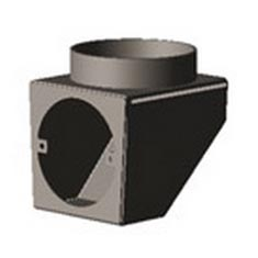 "Charnwood 5"" Vertical Rear Flue Adaptor"