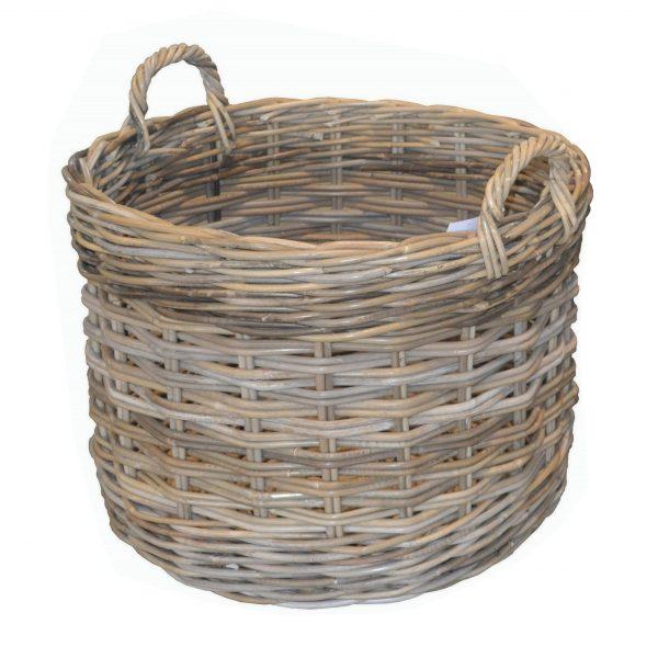 Large Round Log Basket