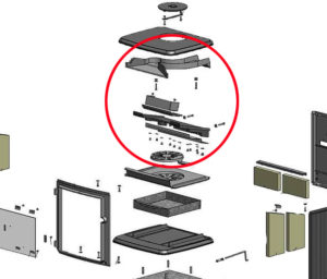 common parts in modern stoves